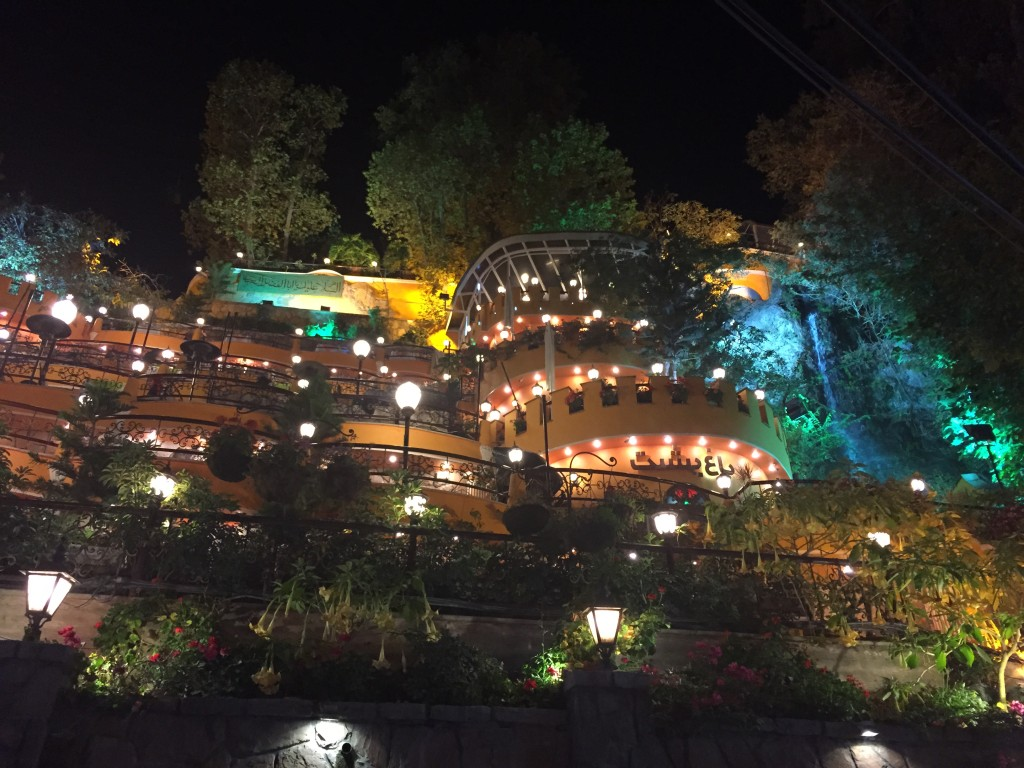 Darband Restaurant Waterfall