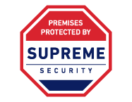 calgary marketing company supreme security logo